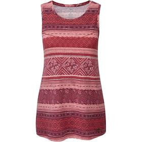 Sherpa Kira Mouwloos Shirt Dames rood/bont